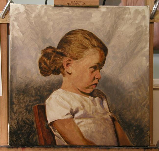 óleo retrato tutorial