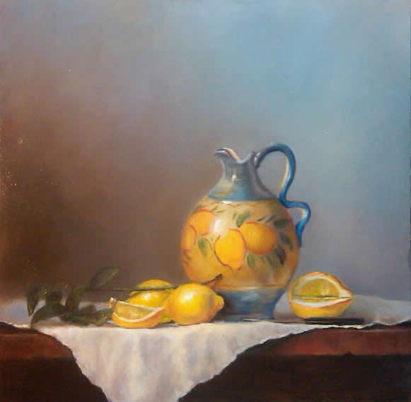 jarro italiano limonada com os limões país