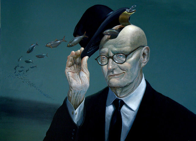 surrealism paintings by ole fick
