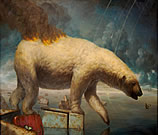 surrealist painting by Martin Wittfooth